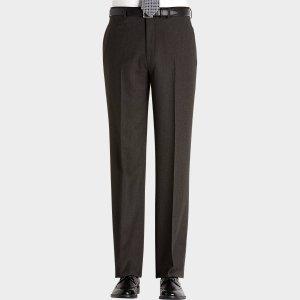 Lauren by Ralph Lauren Brown Classic Fit Flannel Dress Pants - Men's Dress Slacks | Men's Wearhouse