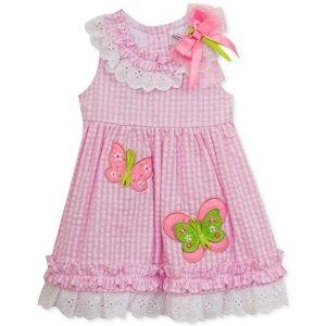 Rare Editions Seersucker Butterfly Dress, Baby Girls (0-24 months) - Sale & Clearance - Kids & Baby - Macy's