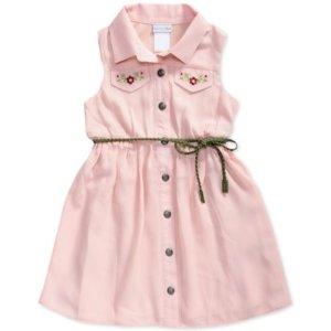 Sweet Heart Rose Embroidered Shirtdress, Toddler & Little Girls (2T-6X)