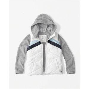 girls fleece twofer jacket   girls clearance   Abercrombie.com