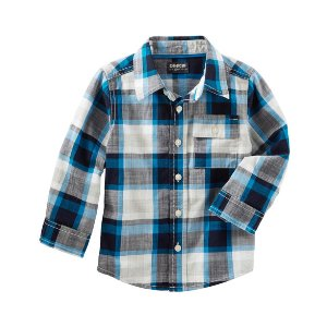 Toddler Boy Plaid Button-Front Shirt | OshKosh.com