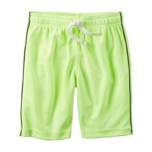 Kid Boy Neon Active Mesh Shorts | Carters.com