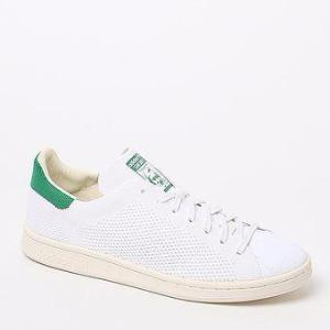 adidas Stan Smith Primeknit White & Green Shoes at PacSun.com