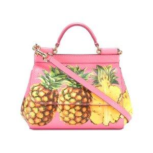 Dolce & Gabbanapineapple print Sicily shoulder bag