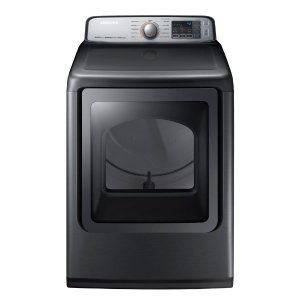 Samsung 7.4 cu. ft. Electric Dryer with Steam in Platinum-DVE50M7450P - The Home Depot