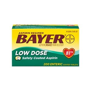 Bayer Low Dose Safety Coated Aspirin Tablets 81mg
