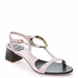 Pale Rose Dior O T-Strap Sandals