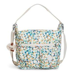 Archie Printed Handbag - Meadow Flower Green | Kipling
