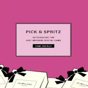 PICK & SPRITZwith any purchase @ Jo Malone London