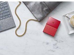 CDN$69史低价 Western Digital 1TB My Passport USB3.0 超薄便携硬盘 红色