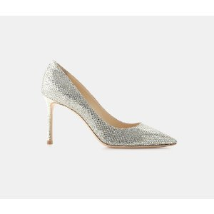 Jimmy Choo Romy 85 Glitter Fabric Pointy Toe Pump Pumps | ELEVTD Free Shipping & Returns