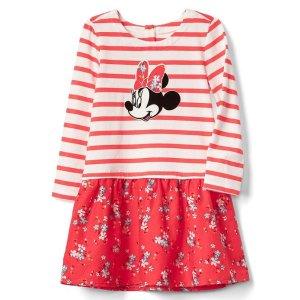 babyGap | Disney Baby Minnie Mouse mix-fabric dress