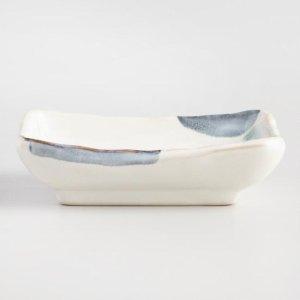 Blue and White Reactive Glaze Square Tidbit Plates Set of 4