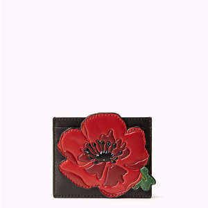ooh la la poppy applique card holder
