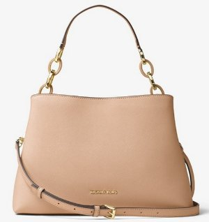 $214.8(Org. $358)MICHAEL MICHAEL KORS Portia Large Saffiano Leather Shoulder Bag @ Michael Kors