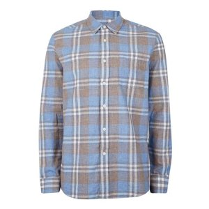 Light Blue Check Casual Shirt - View All Sale - Sale - TOPMAN USA