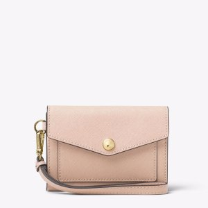 Honey Medium Leather Wristlet