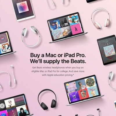 Get wireless Beats headphone when you buy an eligible Mac, iPhone or iPad for college.