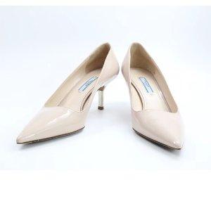 (5) beige Plain Patent leather PRADA Heels - Vestiaire Collective