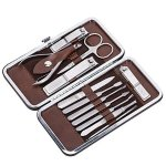 Corewill Manicure & Pedicure Set Nail Clippers 12 in 1 Stainless Steel with Portable Travel Case