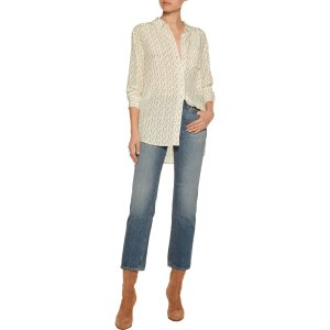 + Kate Moss Daddy printed washed-silk blouse | Equipment