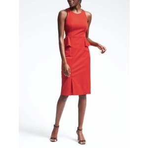 Bi-Stretch Side-Peplum Sheath | Banana Republic