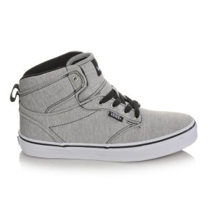 Boys' Vans Atwood Hi 10.5-7 Grey/White | Shoe Carnival