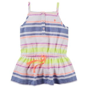 Toddler Girl Neon Striped Tunic | Carters.com