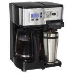 史低价!Hamilton Beach 49983C 12杯可编程豪华两用咖啡机