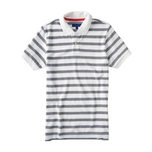 aeropostale striped 横条 Polo衫