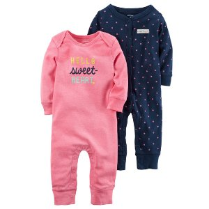 2-Pack Babysoft Neon Coveralls