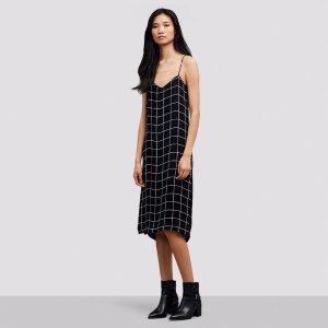 Grid Print Slip Dress | Kenneth Cole