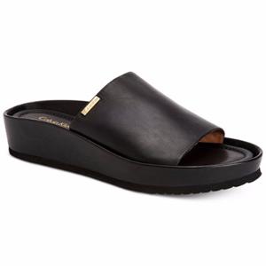 Calvin Klein Women's Hope Platform Wedge Slip-On Sandals
