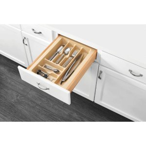 Rev-A-Shelf 2.375 in. H x 14.25 in. W x 21.25 in. D Medium Almond Cutlery Tray Drawer Insert-CT-2A-52 - The Home Depot