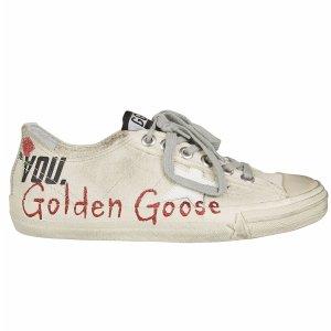 Golden Goose - Golden Goose Logo Detail Sneakers - G30WS639 M4, Women's Sneakers | Italist