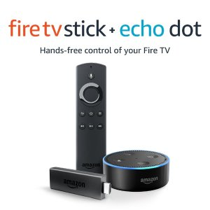 $59.99Amazon Fire TV Stick 电视棒 带Alexa语音遥控器 + Echo Dot套装