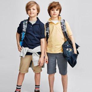 Boys Uniform Short Sleeve Solid Pique Polo   The Children's Place