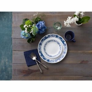 Corelle 16-Piece Livingware True Blue Dinnerware Set - Walmart.com