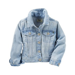 Kid Girl Denim Jacket - Blue Ice Wash | OshKosh.com