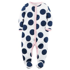 Baby Girl Cotton Snap-Up Sleep & Play | Carters.com