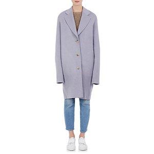 Acne Studios Landi Brushed Wool-Cashmere Melton Coat | Barneys New York