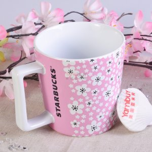 STARBUCKS Sakura Blooming Ceramic Mug 355ml 2017 Taiwan Limited Edition