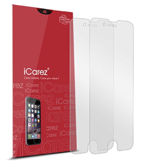 $3.95iCarez [HD Anti Glare] Screen Protector for iPhone 8 Plus iPhone 7 Plus 5.5-inch [ Unique Hinge Install Method With Kits ] with Lifetime Replacement Warranty [2 Pack]