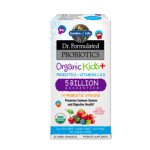 Garden of Life Dr. Formulated Probiotics Organic Kids Plus Berry Cherry -- 30 Yummy Chewables