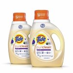 Tide Purclean Liquid Laundry Detergent, Honey Lavender Scent, 100 Fl Oz (64 Loads)