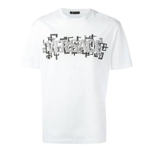 Versacestudded logo T恤