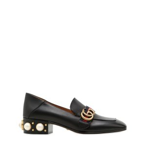 GUCCI - 35MM PEYTON EMBELLISHED LEATHER PUMPS