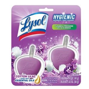 Lysol Hygienic Automatic Toilet Bowl Cleaner, Cotton Lilac, 2ct
