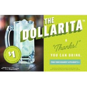 $1Apple Bee's Margaritas in October