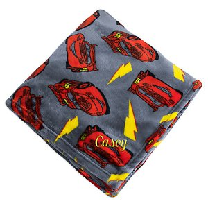 Lightning McQueen Fleece Throw - Personalizable